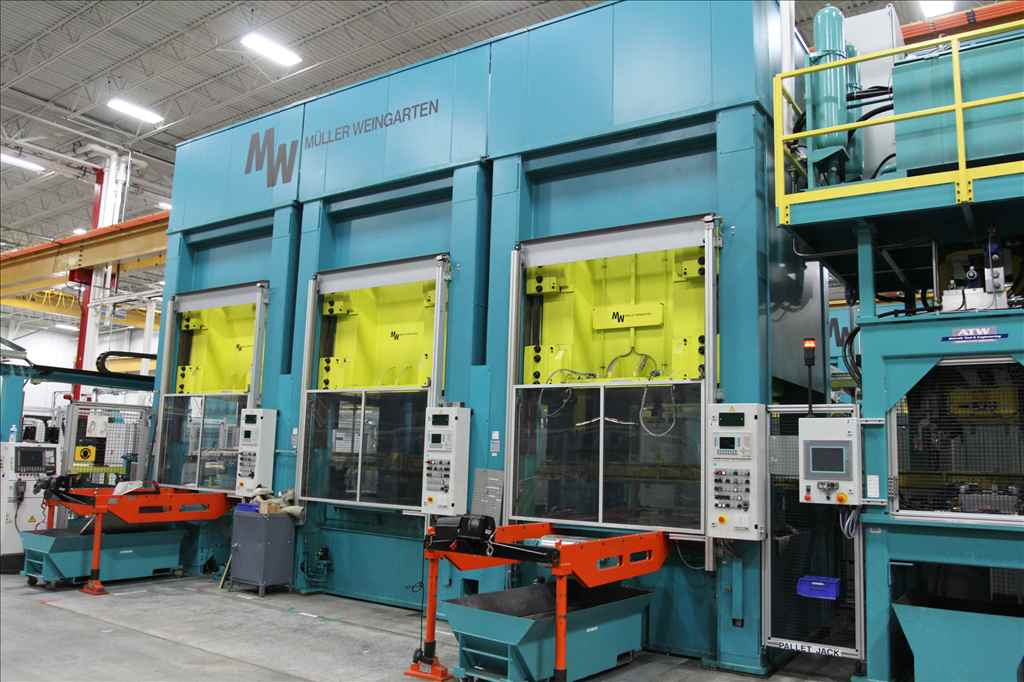 "180 TON MULLER-WEINGARTEN PRESS, MODEL ZE 160-16/18.1.1, STRAIGHT SIDE DOWNACTING HYDRAULIC PRESS, 20.8""STR, SIEMENS CONTROLS, NEW 2002, (2) AVAILABLE"