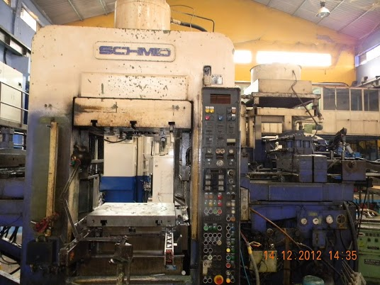 400 TON SCHMID HYDRAULIC FINE BLANKING PRESS & HR 10 DECOILER, 1988