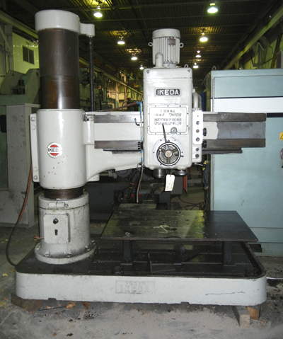 "54"" X 13"" IKEDA RADIAL ARM DRILL, MODEL RM1300, 5 HP MOTOR, 13-5/8"" DIA. COLUMN, 54""-1/2"" ARM LENGTH, 1978"