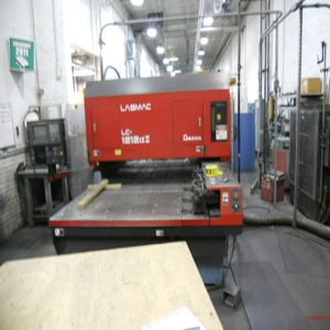 "2000 WATT AMADA PULSAR LC1212 LASER, 4′ X 4′ TABLE W/ 1 REPOSITION, 50"" X 100"" WORKSHEET CAPABILITY,  FANUC 16LB NC UNIT, 1996"