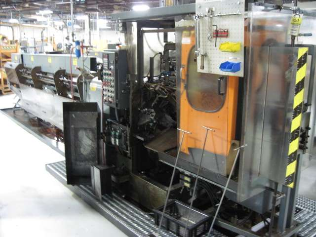 "2"" MODERN MODEL 2LD CUT OFF MACHINE WITH 16′ AUTOMATIC BAR FEEDER , PLC CONTROLS, 1995"