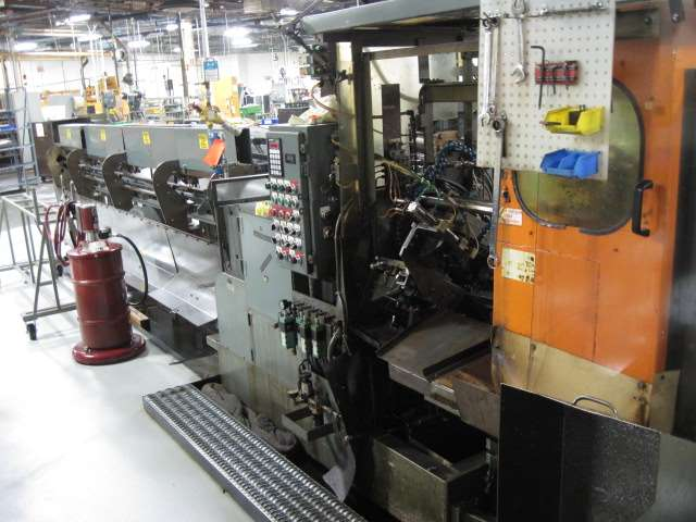 "2"" MODERN MODEL 2LD CUT OFF MACHINE WITH 16′ AUTOMATIC BAR FEEDER ,PLC CONTROLS, 1995"
