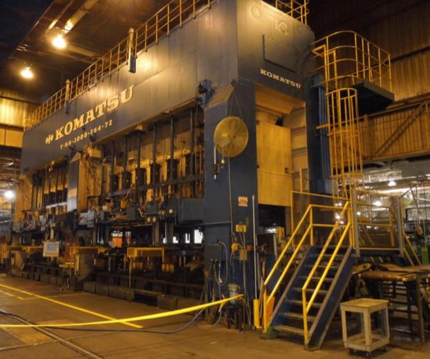 "3000 TON KOMATSU TRANSFER PRESS, T-S4-3000-264-72, 24"" STR, 48"" SH, 10"" ADJ, 264"" X 72"" BA, 10-20 SPM VARI"