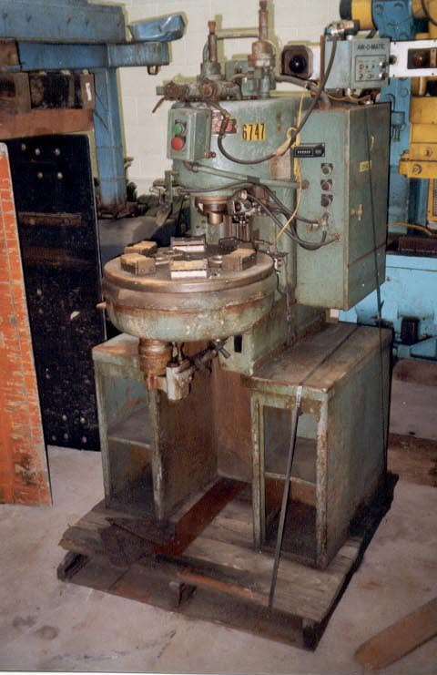 """6 TON DENISON HYD. PRESS, 8"""" STR, 12"""" OPEN, 12"""" THROAT, 16"""" X 11"""" BED, 6 STATION ROTARY TABLE"""