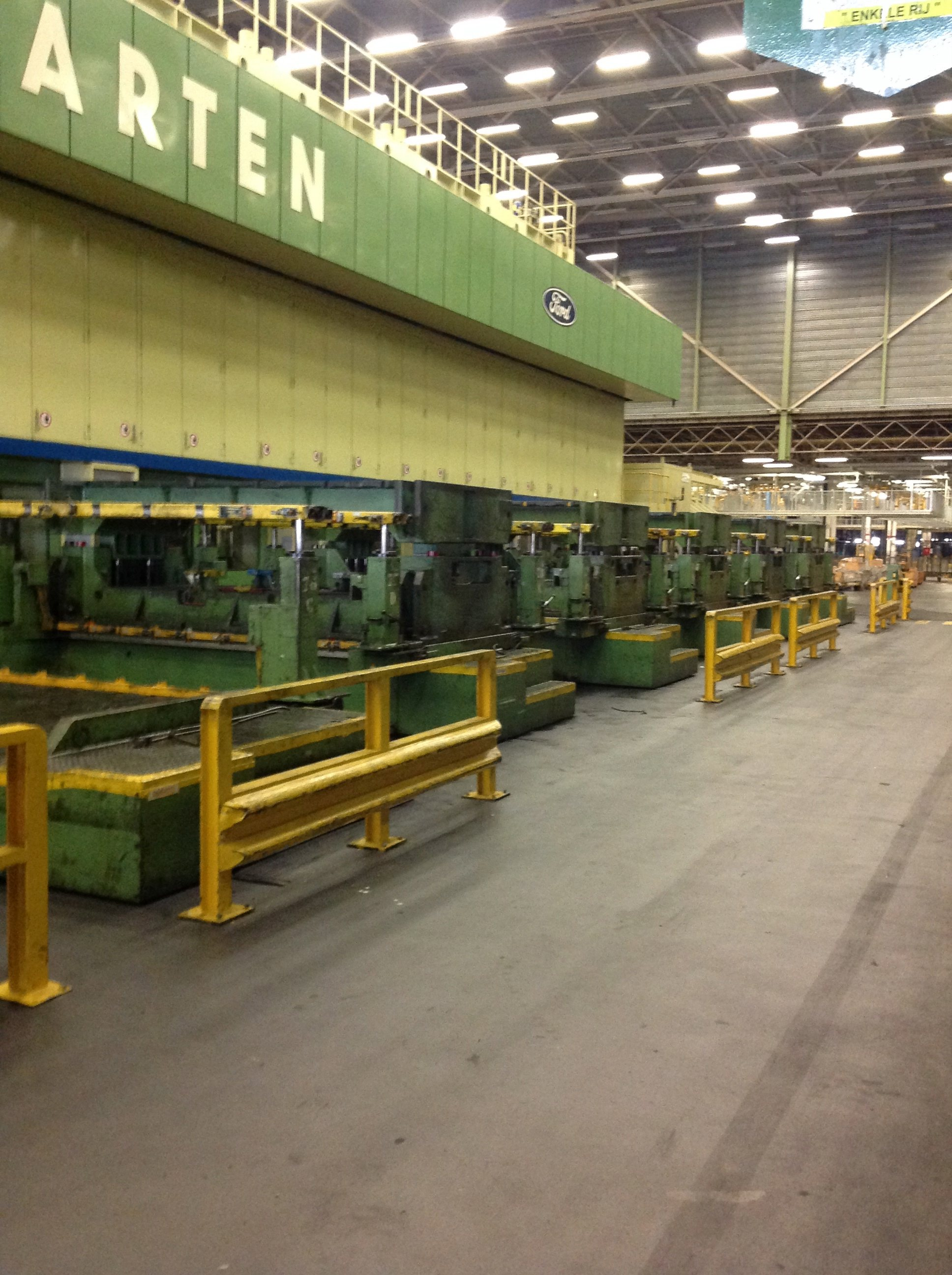 6200 TON WEINGARTEN CROSS BAR TRANSFER PRESS LINE, modernized in 2000, PLC Siemens S 5, (Line 54)