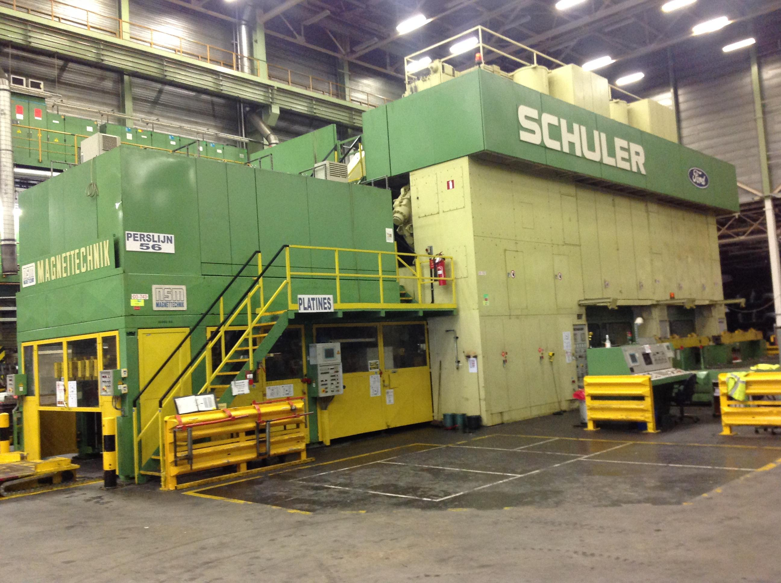 2200 TON SCHULER TRI -AXIS TRANSFER PRESS LINE, modernized in 2000, PLC Siemens S 5, (Line 56)