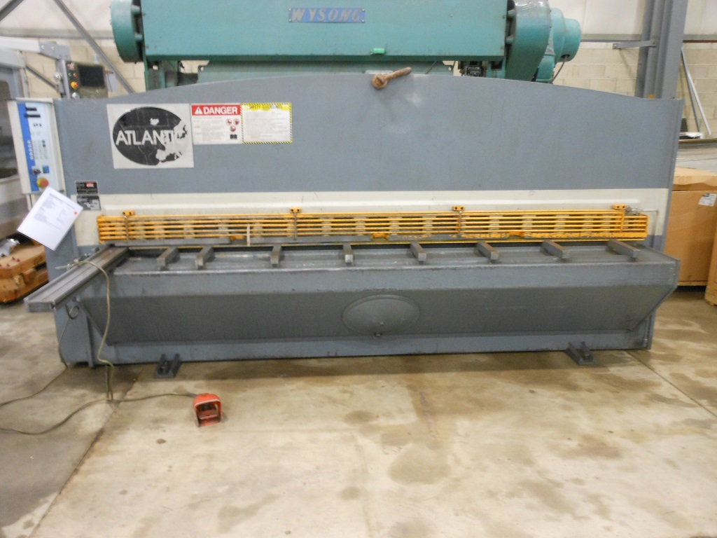 "10′ X 1/4"" ATLANTIC HYDRAULIC SHEAR, MODEL 1014, 40"" SQ. ARM, 39"" REACH BACKGAUGE, 2008"