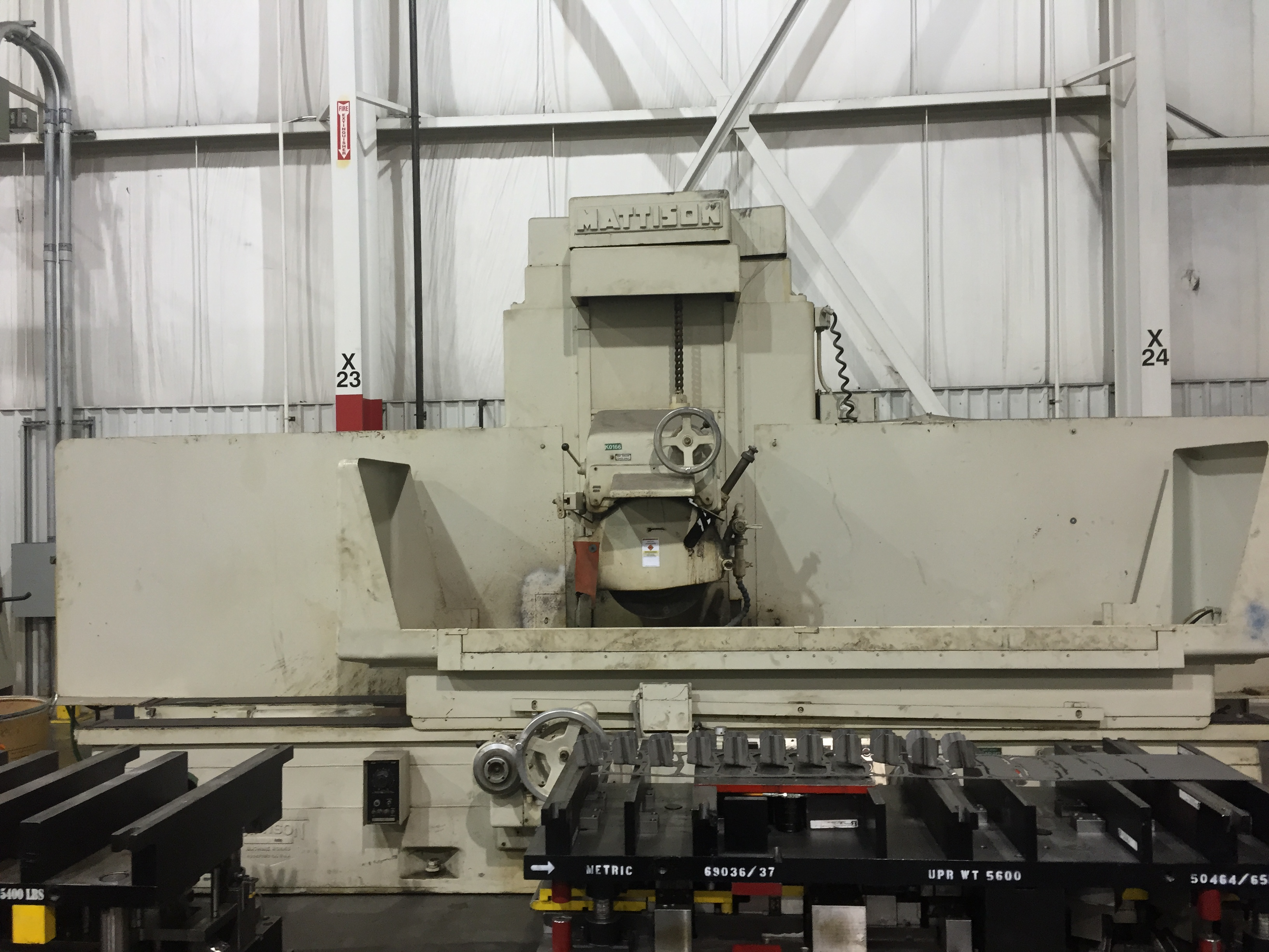 "24"" X 72"" MATTISON HYDRAULIC SURFACE GRINDER, 24"" X 30"" X 72"" CAPACITY, MAGNETIC CHUCK, BUILT IN COOLANT, 1969"