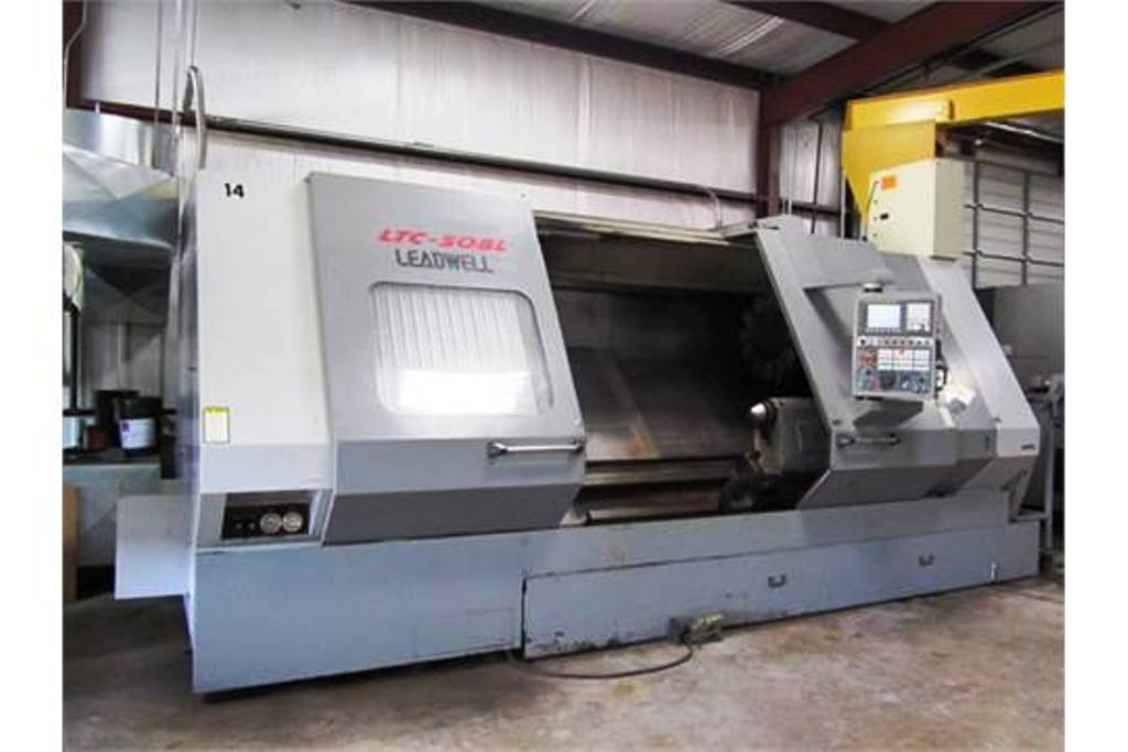 "31-1/2"" X 80"" LEADWELL MODEL LTC50-BL CNC TURNING CENTER HEAVY DUTY, 2005"