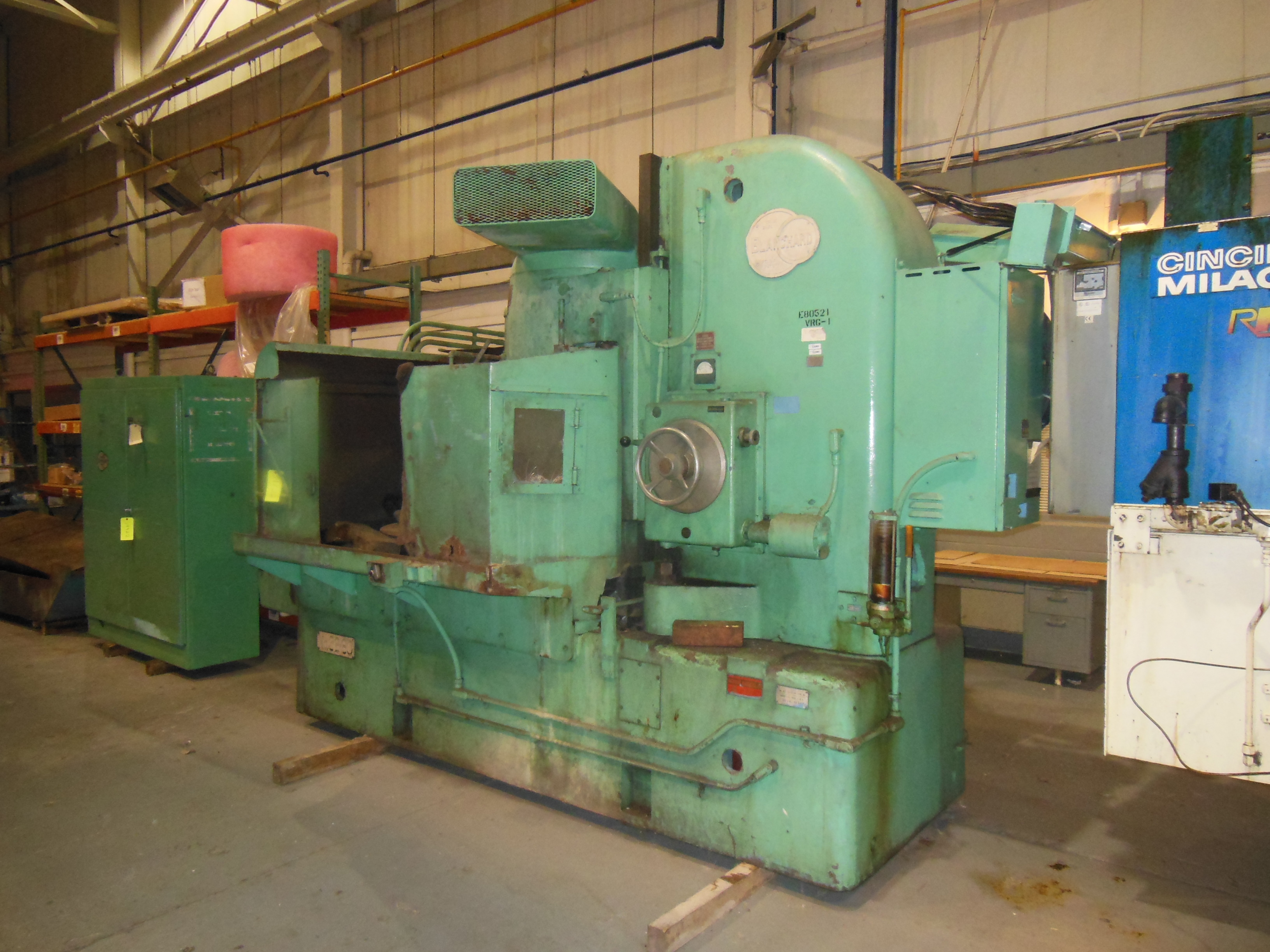 "60"" BLANCHARD ROTARY SURFACE GRINDER, MODEL 32-60, 60"" DIA. MAG CHUCK, 72"" SWING, 24"" VERT, 75 HP SPINDLE MOTOR, 1969, RECONDITIONED"