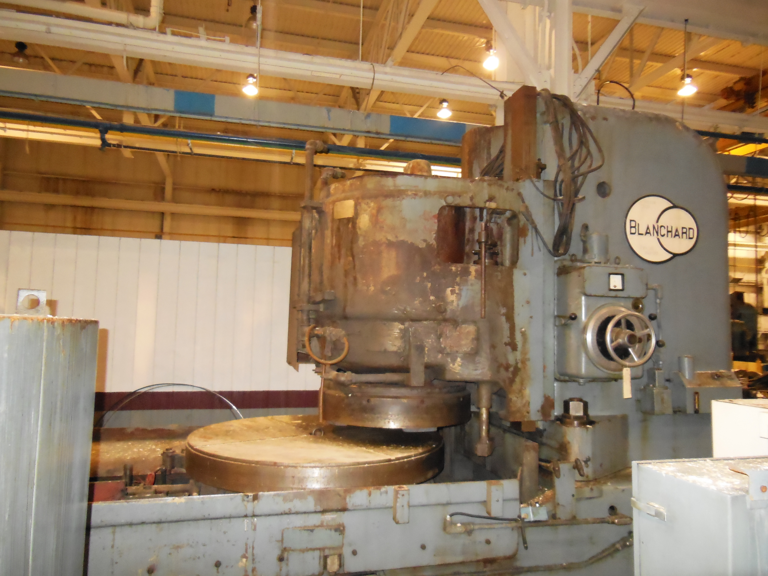 "60"" BLANCHARD ROTARY SURFACE GRINDER, MODEL 32-60, 60"" DIA. MAG CHUCK, 72"" SWING, 30"" VERT, 75 HP SPINDLE MOTOR, 1961, RECONDITIONED"