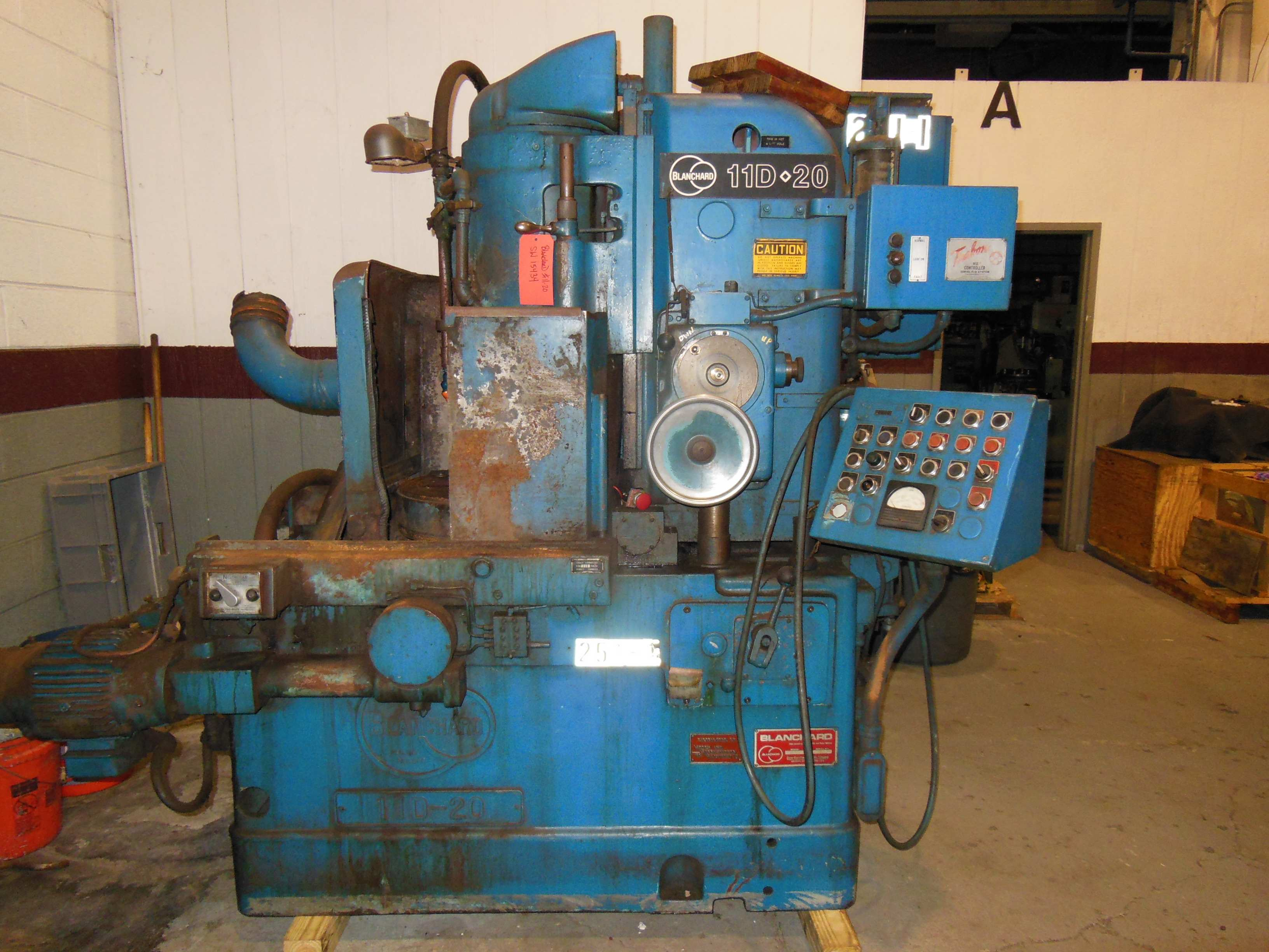 "11D-20 BLANCHARD ROTARY SURFACE GRINDER, 20"" VERTICAL SPINDLE, 11"" HIGH OVER 16"" CHUCK, 1981"