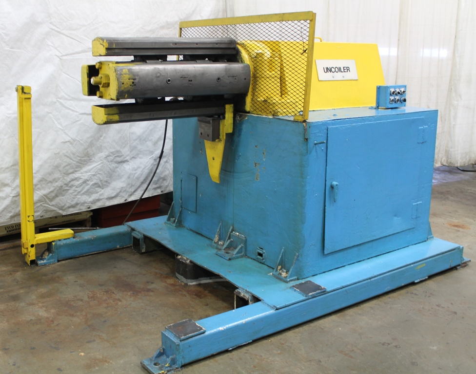"""16,000 LB X 30"""" ROWE UNCOILER, MODEL 16030DSL, MOTORIZED, HYD EXPANSION, JOGGING, KEEPERS"""