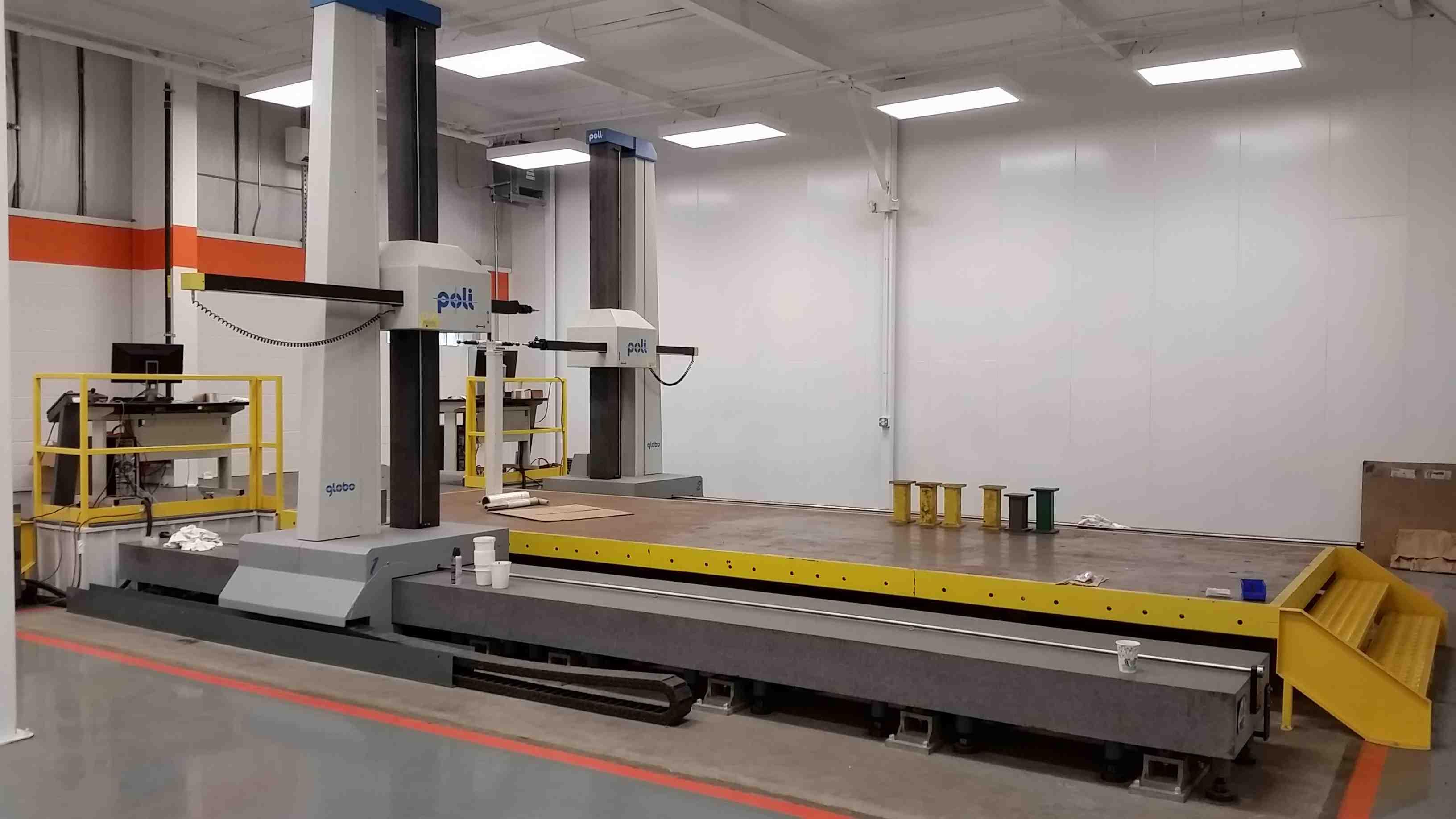 POLI GLOBO MEASURING MACHINE, MODEL 2000 POLI, PC BASED, 6000 mm (X), 3200 mm (Y), 2500 mm (Z)
