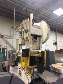 "150 TON VERSON OBI PRESS, MODEL 150, 8"" STR, 22"" SH, 50"" LR X 30"" FB BA, 46 SPM"