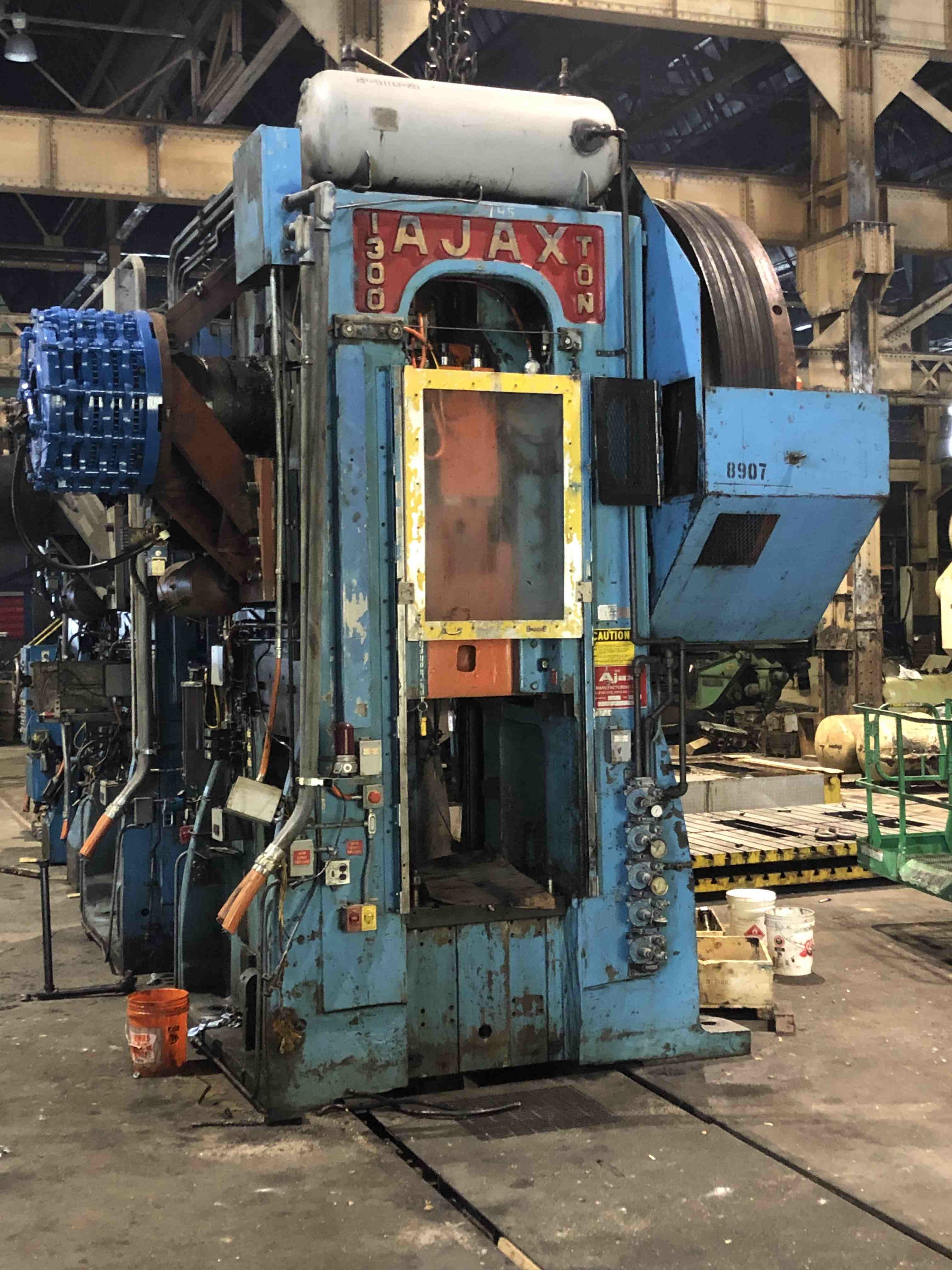 "1300 TON AJAX FORGING PRESS, 12"" STR, 42"" SH, 31"" X 31"" RAM FACE, 70 SPM"