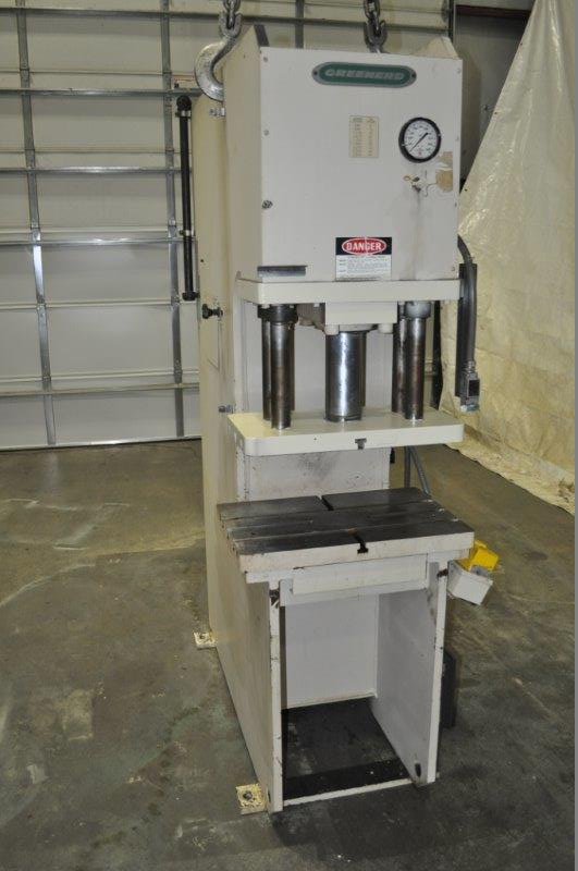 "40 TON GREENERD HCA 4030RS HYDRAULIC PRESS, 12"" STR, 17"" DLO, 26"" X 16.5"" BA, 1992"