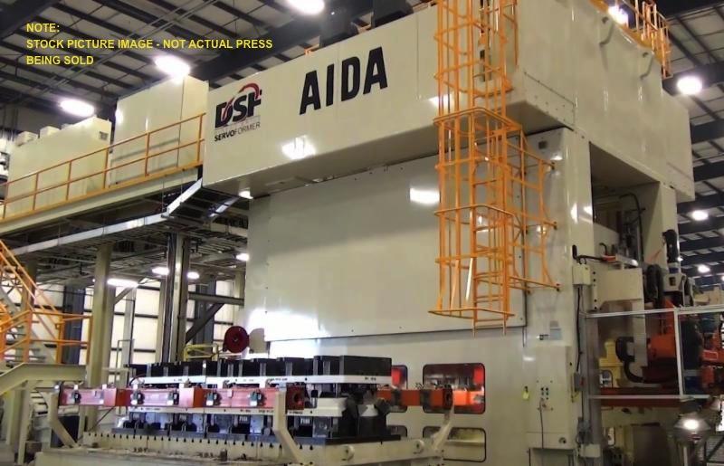 "1650 TON AIDA SERVO, MODEL DSF-S4-15000(2) -610-245, 24"" STR, 12"" ADJ, 48"" DIE HEIGHT, 240"" LR X 96"" FB BA, ROLLING BOLSTER F-B, YEAR 2016"