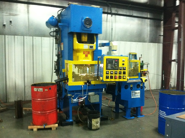 "88 TON AIDA GAP FRAME PRESS, MODEL NC1-80, 6.29"" STR, 12.59"" SH, 3"" ADJ, 37.4"" LR X 18.1"" BED, 40-75 SPM VARI, 1989"