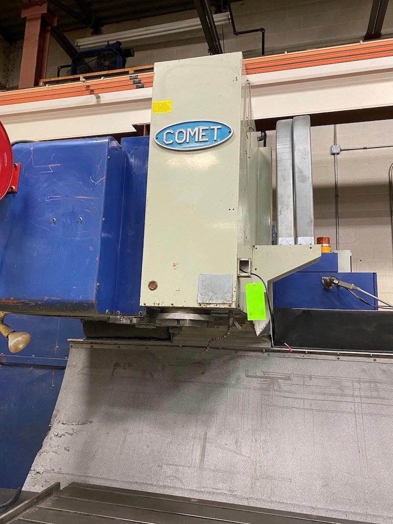 Comet Model HV-80A Vertical machining center with ST-Numatix CNC controlle, Chip conveyor coolant tank and pump