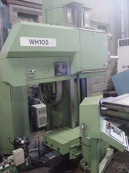 "TOS VARNSDORF WH-105 CNC TABLE TYPE HORIZONTAL BORING MILL (1999)  4.12""  Table 49.21"" x 57.08"" (X,Y,Z,W)  70.86""x 49.21""x25.59""x49.21""Taper #50, 35HP, 10-3000 RPM"