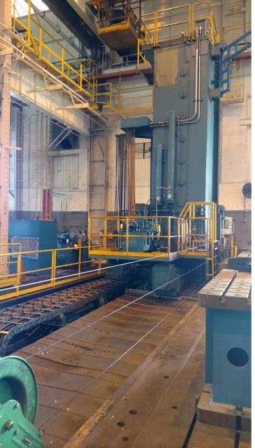 "Ingersoll 8"" CNC Horizontal Boring Mill 196"" (16'3"") Y-Travel; 83.5"" Z-Travel; 47.5"" W-Travel; 480"" (40') Horizontal Travel (X-Axis); 100 Ton Table Capacity,  Fanuc 150MB CNC Control"