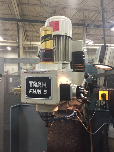 "Southwestern Industries Trak  FHMSX 5 (2008) CNC Bed Mill; 50"" x 12"" Table, 40""x20""x24"", 40 Taper, Prototrak SMX Control,   Power Draw Bar."