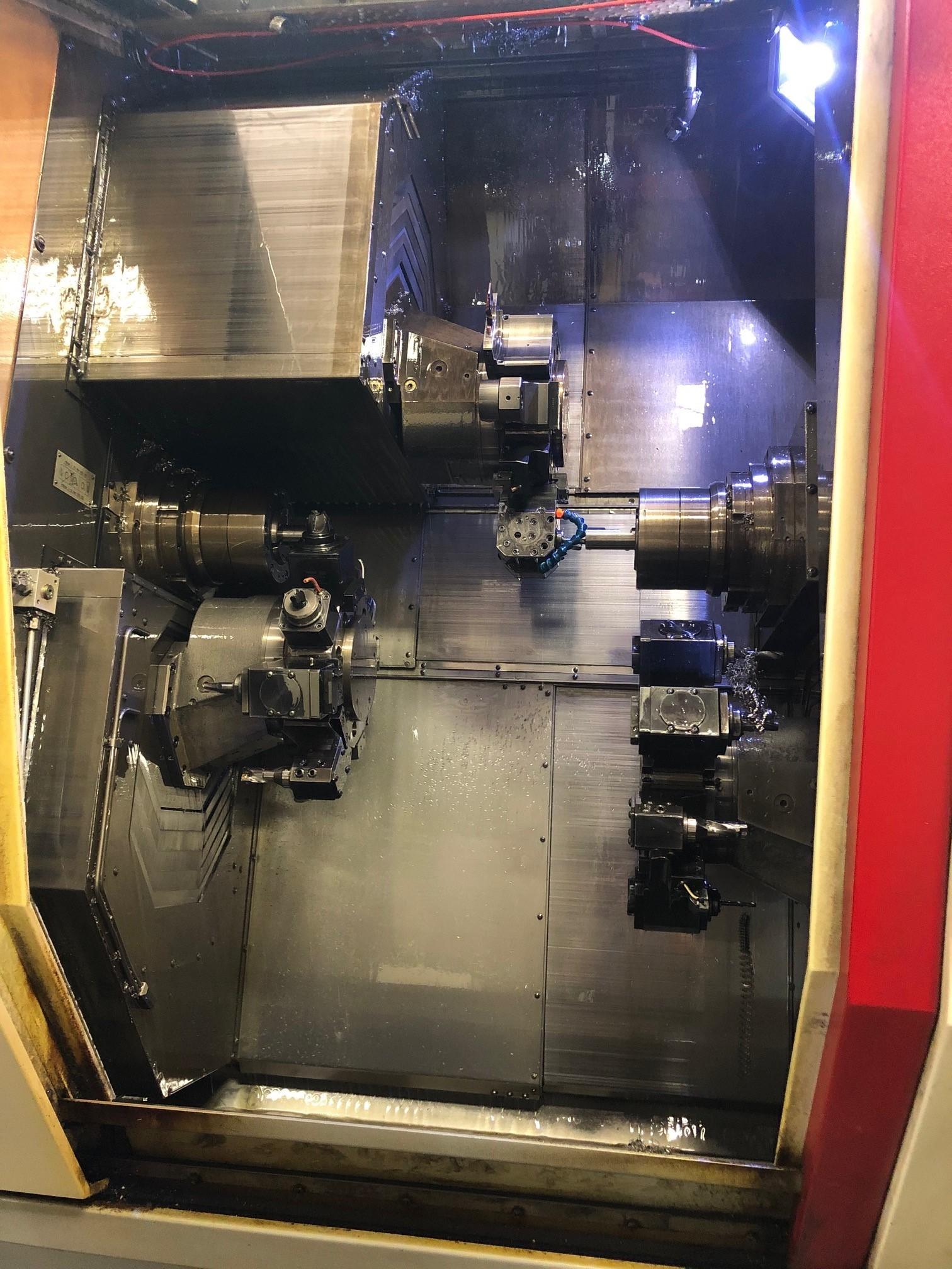 Traub TNX 65/42 CNC Lathe (2006) Live Tool Heads for Z&X axis (static stay) Tool Monitoring system Traub TX 8i-S CNC Control