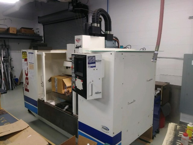 Fadal 4020 Vertical Machining Center (1997/complete rebuilt 2013)  W/ KMotion 5 Axis Rotary Table Fadal HS88 CNC Control w/White LCD Lighting.