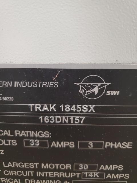 Southwestern Industries Trak TRL 1845SX (2016)  Prototrak SLX CNC control