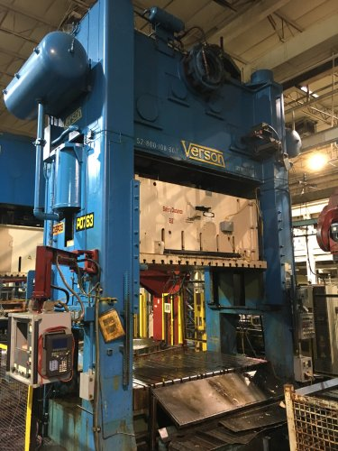 800 Ton Verson S2-800-108-60t Straight Side Press