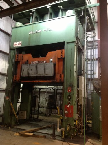 1500 Ton WILLIAMS & WHITE Hydraulic Press