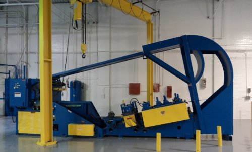 "20000 Lbs. Air Feeds Inc Cradle Straightener, 24"" Width, 7 Rolls, 72"" OD"