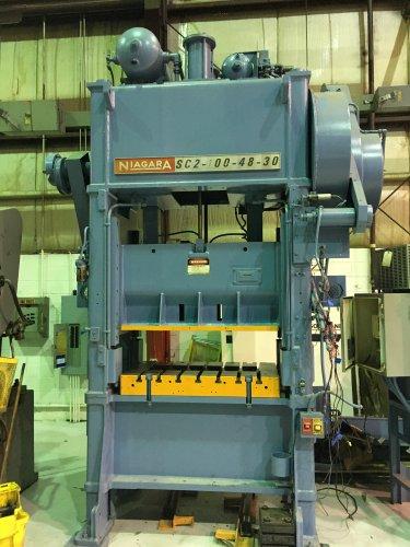 100 Ton Niagara SC2-100-48-30 Straight Side Press