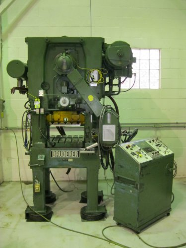 25 Ton BRUDERER BSTA-25 High Speed Straight Side Press