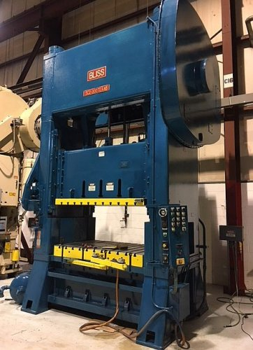 300 Ton BLISS SC2-300-72-48, Straight Side Press