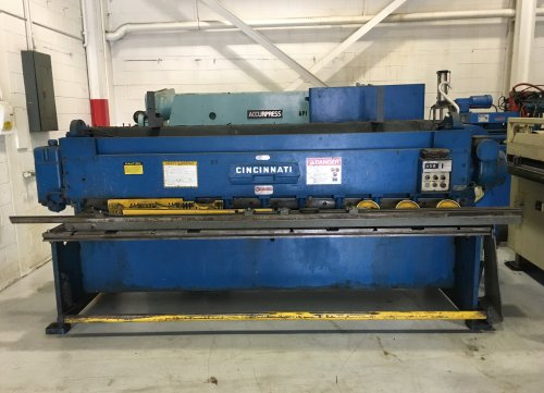 10 ga x 10' Cinciannati Shear, Model# 1010,