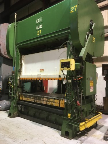 200 Ton BLISS SC2-200-96-48 Straight Side Press