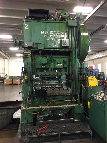 "150 Ton MINSTER P2-150-54 ""Piece-maker"" Straight Side High Speed Press"