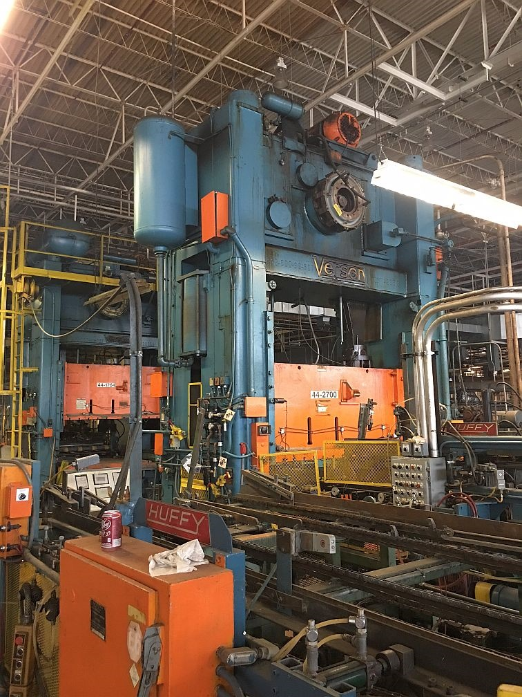 600 Ton Verson S2-600-96-60t Straight Side Press