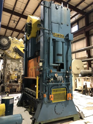 200 Ton VERSON S2-200-96-60t Straight Side Press