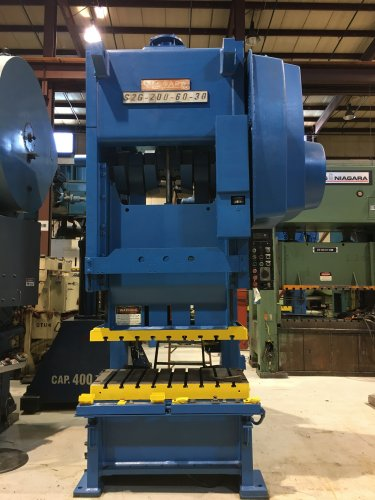 200 Ton NIAGARA SG2-200-60-30 Double Crank Gap Press