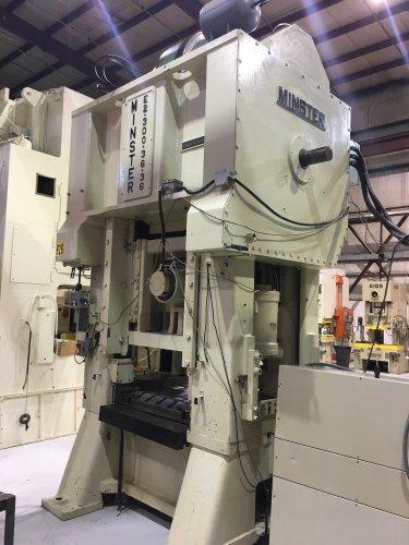 300 Ton MINSTER E2-300-36-36 Hevi-Stamper Straight Side Press