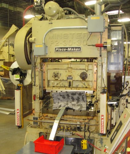 30 Ton MINSTER P2-30-30 Straight Side High Speed Press