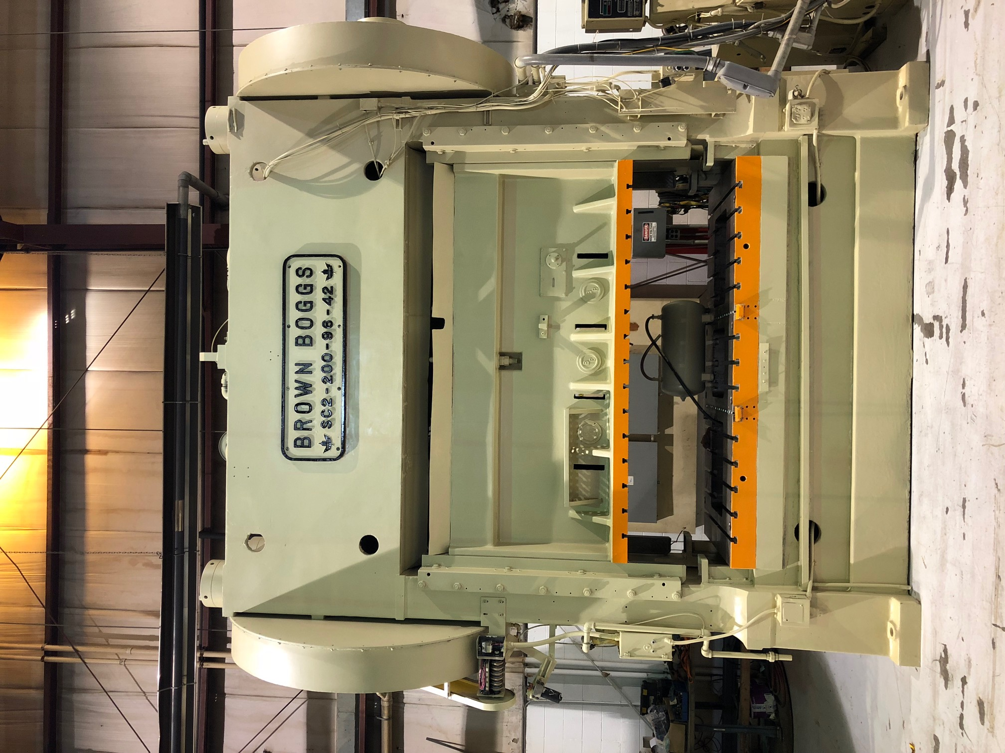 200 Ton Brown & Boggs SC2-200-96-42 Straight Side Press
