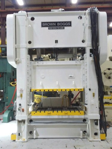 200 Ton Brown & Boggs SS2-200-72-48 Straight Side Press, New 1996