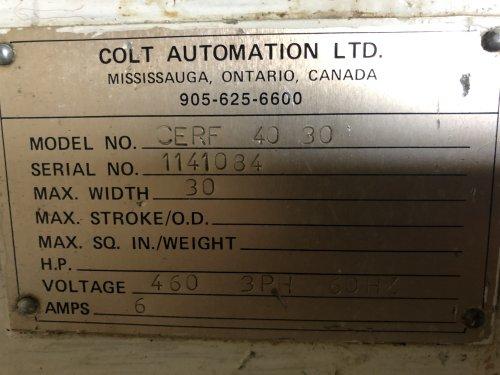 """30"""" COLT No. CERF-40-30, Servo Feed"""