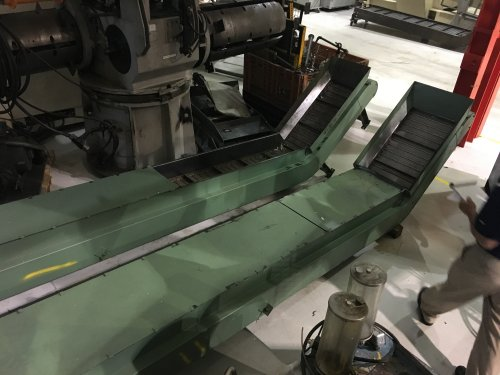 "14"" W. x 15' L., Mayfran, Steel Belt Conveyor."