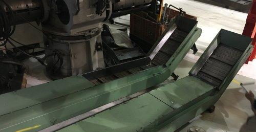 """18"""" W. x 15' L., Mayfran, Steel Belt Conveyor."""