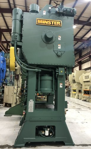 400 Ton Minster E2-400-60-48 Hevi-Stamper Straight Side Press, New 2001